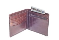 Leather wallet Stock Photos