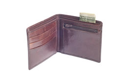 Leather wallet Stock Image