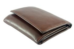 Leather wallet Royalty Free Stock Photography