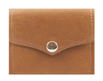 Leather Wallet. Isolated in white Royalty Free Stock Photography