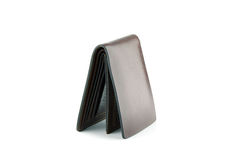 Leather wallet on  Stock Photography