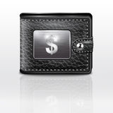 Leather wallet  with dollar USA.  Stock Photos