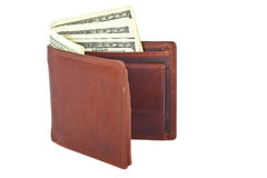 Leather wallet with dollars Royalty Free Stock Photo