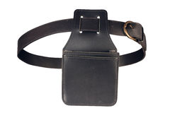 Leather wallet holster and a belt Stock Images