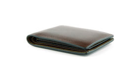 Leather wallet on isolated Royalty Free Stock Photo