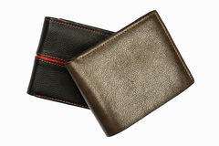 Leather wallet isolated Stock Images