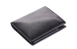 Leather wallet. Stock Photos