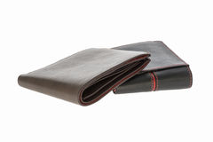 Leather wallet isolated Stock Photo
