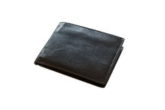 Leather wallet isolated on white Royalty Free Stock Image