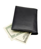 Leather wallet of money dollar Royalty Free Stock Photos