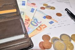 Leather wallet Stock Images