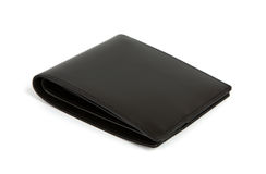 Leather wallet on the white Royalty Free Stock Images