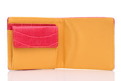 Leather wallet. On a white background Stock Photo