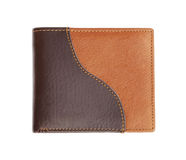 Leather wallet on white Royalty Free Stock Photography