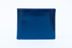 Leather wallet  on white background Royalty Free Stock Images