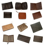 Leather wallets Stock Images