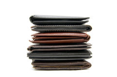 Leather wallets Stock Photo