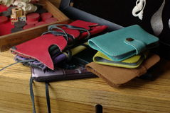 Leather wallets Royalty Free Stock Photo
