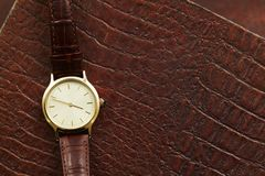 Leather watch Stock Image