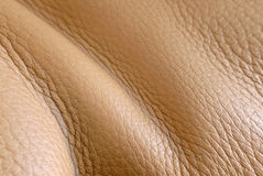Leather waves. Of a sofa stock images
