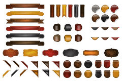 Leather Website kit. For your website,webpage or print design Royalty Free Stock Photo