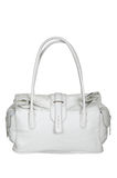 Leather white bag stock images