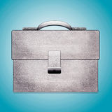 Leather white Briefcase. Leather Briefcase. Leather white Briefcase Royalty Free Stock Photos
