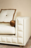 Leather white sofa Royalty Free Stock Images