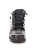 Leather winter black boot. Royalty Free Stock Photo