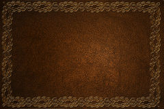 Leather With Embossed Pattern Royalty Free Stock Photos
