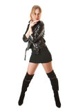 Leather Woman Stock Image