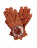 Leather women gloves Stock Photo