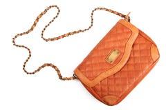 Leather women handbag Stock Images