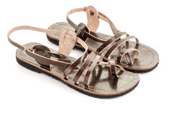 Leather women sandals Royalty Free Stock Images
