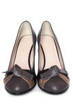 Leather women shoes Stock Images