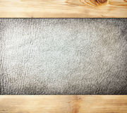 Leather in Wood Royalty Free Stock Photography
