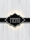 Leather and wood menu design Royalty Free Stock Photography