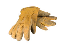 Leather work gloves royalty free stock images