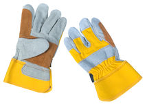 Leather work gloves Stock Photography