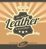 Leather work retro poster design Royalty Free Stock Image
