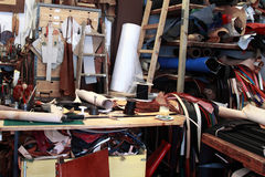 Leather workshop Stock Images