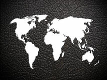 leather world map Royalty Free Stock Photography