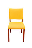 Leather yellow chair isolated Royalty Free Stock Images