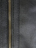 Leather with zipper Royalty Free Stock Image