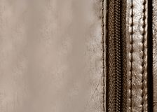 Leather Zipper background Royalty Free Stock Image