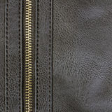 Leather with zipper Stock Photos
