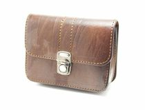 Leather zone bag Royalty Free Stock Photo