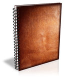 Leatherbound book cover. Leather bound blank book cover Royalty Free Stock Images