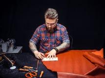 Leathercraft mistrza przerobowy rzemienny workpiece Obraz Stock