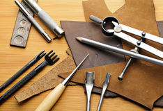 Leathercraft tool Stock Image